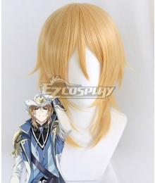 The King's Avatar Quan Zhi Gao Shou Zhou Zekai Cloud Piercer Golden Cosplay Wig