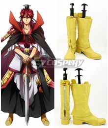 The Labyrinth Of Magic Ren Kouen Yellow Shoes Cosplay Boots