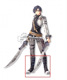The Legend of Heroes - Hajimari no Kiseki Joshua Bright Black Shoes Cosplay Boots