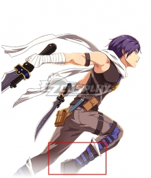 The Legend of Heroes: Trails in the Sky Joshua Bright Black Shoes Cosplay Boots