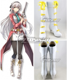 The Legend of Heroes: Trails of Azure Elie MacDowell White Shoes Cosplay Boots