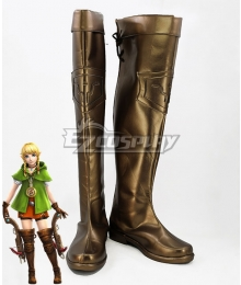 The Legend Of Zelda: Breath Of The Wild Linkle Brown Golden Shoes Cosplay Boots