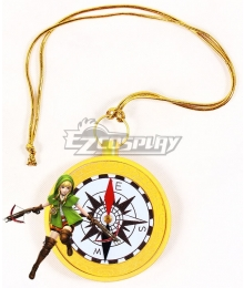 The Legend of Zelda: Breath of the Wild Linkle Necklace Compass Artwork Cosplay Accessory Prop