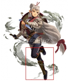 The Legend of Zelda Hyrule Warriors: Age of Calamity Impa Black Shoes Cosplay Boots