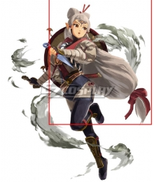 The Legend of Zelda Hyrule Warriors: Age of Calamity Impa White Cosplay Wig