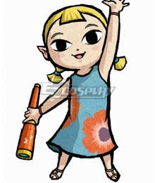 The Legend of Zelda: The Wind Waker HD Aryll Cosplay Costume