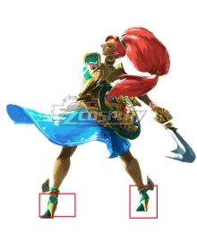The Legend of Zelda Hyrule Warriors: Age of Calamity Urbosa Green Cosplay Shoes