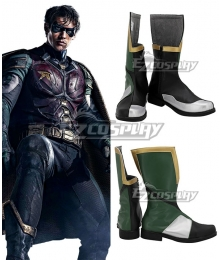 The New Titans TV Series Robin Green Black Shoes Cosplay Boots
