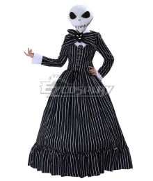 The Nightmare Before Christmas Female Jack Skellington Dress Halloween Cosplay Costume