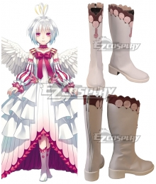 The Rising Of The Shield Hero Filolial Queen Fitoria White Pink Shoes Cosplay Boots