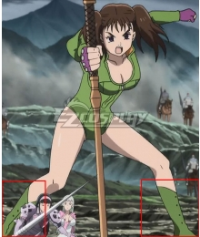 The Seven Deadly Sins: Kamigami no Gekirin Diane Green Shoes Cosplay Boots