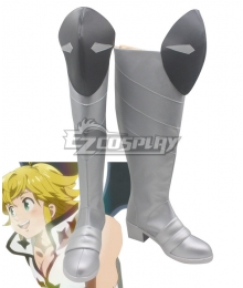 The Seven Deadly Sins: Kamigami no Gekirin Meliodas Grey Shoes Cosplay Boots
