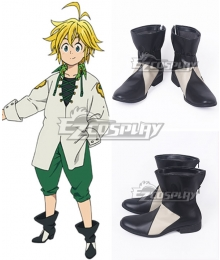 The Seven Deadly Sins: Revival of The Commandments Nanatsu no Taizai Season 2 Dragon's Sin of Wrath Meliodas Black Shoes Cosplay Boots