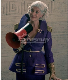 The Umbrella Academy Season 2 The Handler Purple Uniform Halloween Cosplay Costume