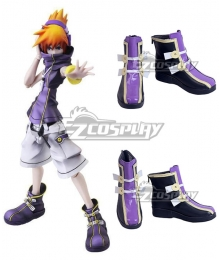 The World Ends With You: Final Remix Neku Sakuraba Black Purple Cosplay Shoes