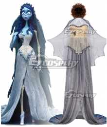Tim Burton's Corpse Bride Emily Halloween Cosplay Costume - Not Including Wig