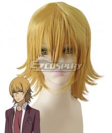 Toaru Kagaku no Railgun T Kakine Teitoku Golden Cosplay Wig