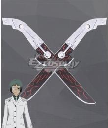 Tokyo Ghoul:re Tokyo Guru Toru Mutsuki Double Sword Cosplay Weapon Prop