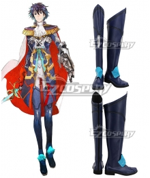 Tokyo Mirage Sessions FE Itsuki Aoi Mirage Master Blue Shoes Cosplay Boots