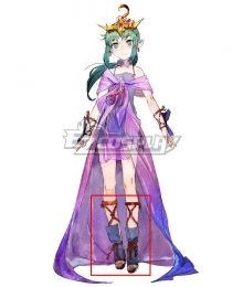 Tokyo Mirage Sessions FE Tiki Blue Cosplay Shoes