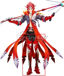Tokyo Mirage Sessions FE Touma Akagi Mirage Master Red Shoes Cosplay Boots