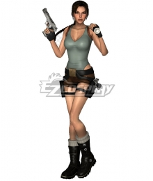 Tomb Raider Game Lara Croft Cosplay Costume