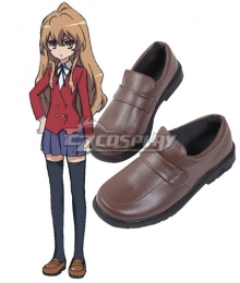Toradora Taiga Aisaka School Uniform Brown Cosplay Shoes