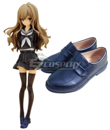 Toradora Taiga Aisaka School Uniform Deep Blue Cosplay Shoes
