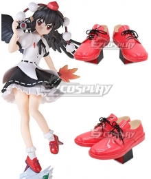 Touhou Project Aya Shameimaru Fan Red Shoes Cosplay Boots