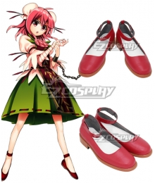 Touhou Project Kasen Ibaraki Red Cosplay Shoes