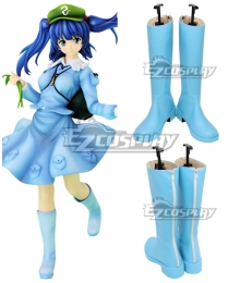 Touhou Project Kawashiro Nitori Blue Shoes Cosplay Boots