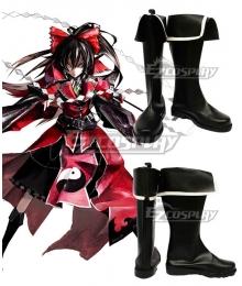 Touhou Project Koumajou Densetsu: Scarlet Symphony Hakurei Reimu Black Shoes Cosplay Boots