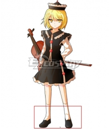 Touhou Project Lunasa Prismriver Black Cosplay Shoes