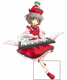 Touhou Project Lyrica Prismriver Red Cosplay Shoes