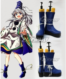 Touhou Project Mononobe no Futo Blue Shoes Cosplay Boots