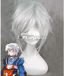 Touhou Project Morichika Rinnosuke White Cosplay Wig
