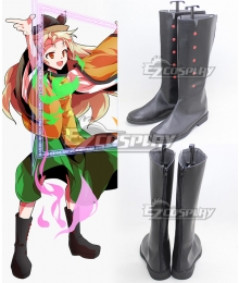 Touhou Project Okina Matara Black Shoes Cosplay Boots