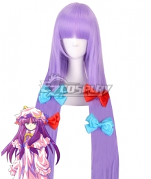 Touhou Project Patchouli Knowledge Purple Cosplay Wig