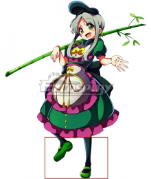 Touhou Project Teireida Mai Green Cosplay Shoes