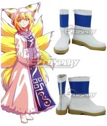 Touhou Project Yakumo Ran White Cosplay Shoes