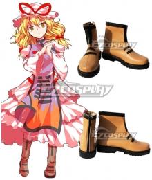 Touhou Project Yakumo Yukari Brown Cosplay Shoes