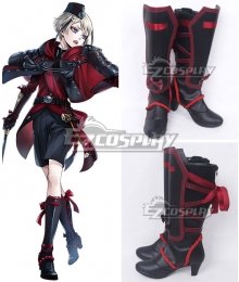 Touken Ranbu Hyuuga Masamune Black Shoes Cosplay Boots