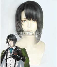 Touken Ranbu Matsui Gou Black Grey Cosplay Wig