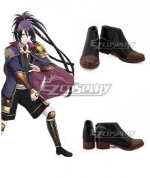 Touken Ranbu Online Fudou Yukimitsu Black Brown Cosplay Shoes