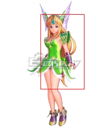 Trials of Mana Riesz Golden Yellow Cosplay Wig