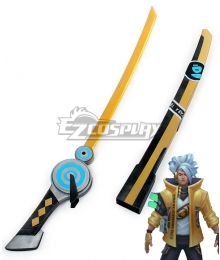 League of Legends LOL True Damage Yasuo Prestige Edition Sword Cosplay Weapon Prop