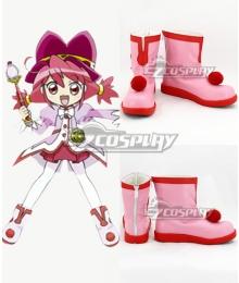 Twin Princess of Wonder Planet Fushigiboshi no Futagohime Fine Pink Cosplay Shoes