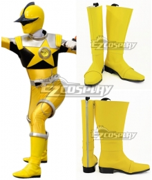 Uchuu Sentai Kyuranger Kajiki Yellow Spada Yellow Shoes Cosplay Boots