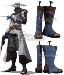 Valorant Cypher Grey Shoes Cosplay Boots