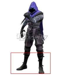 Valorant Omen Black Shoes Cosplay Boots